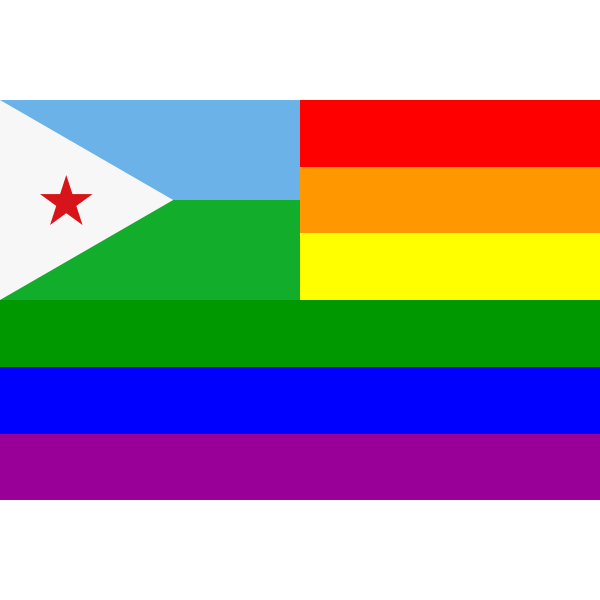 The Djibouti Rainbow Flag