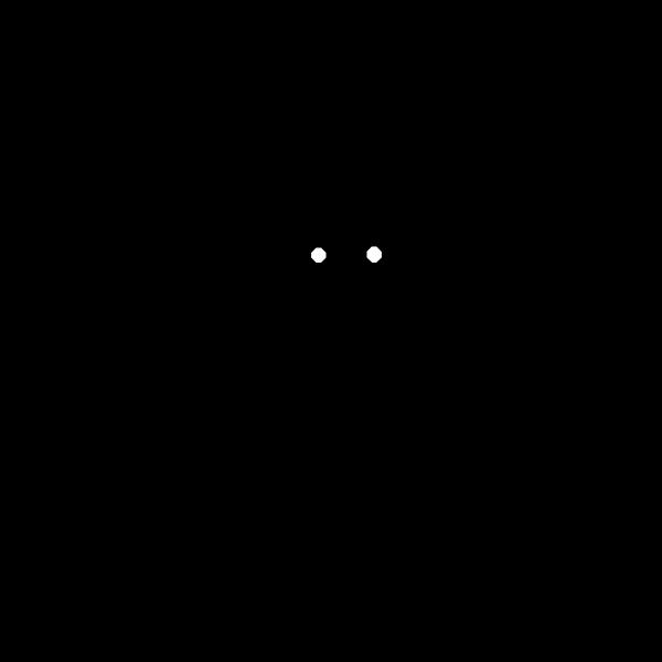 Bat silhouette image