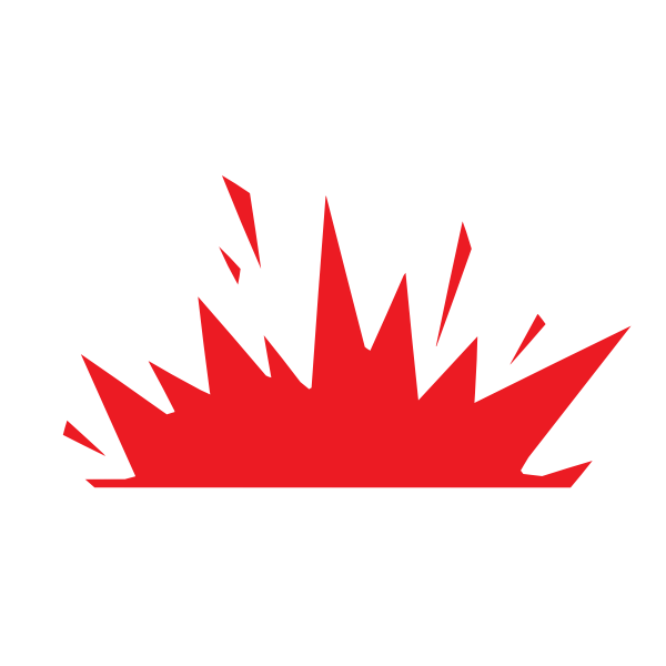 Red explosion