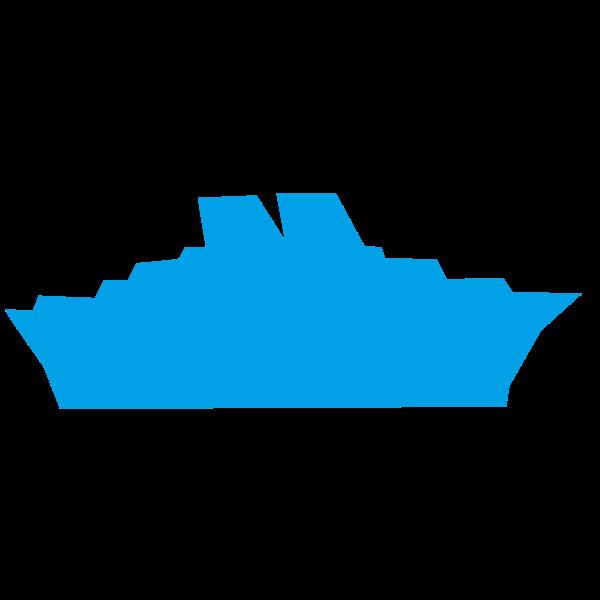 Ocean liner silhouette
