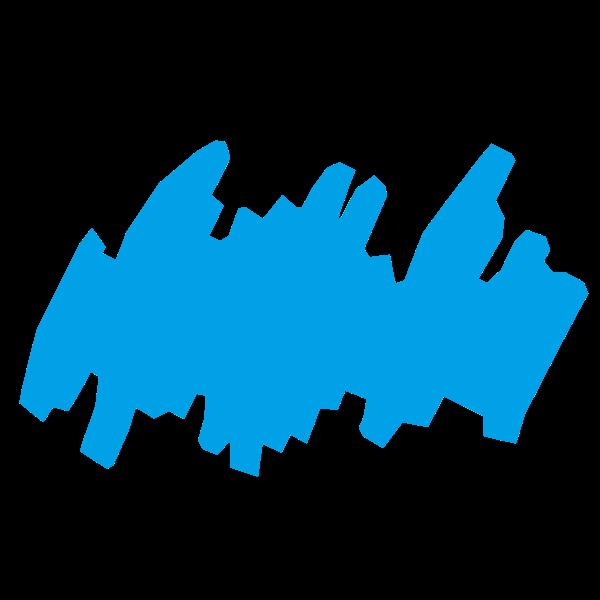 Blue scribble image