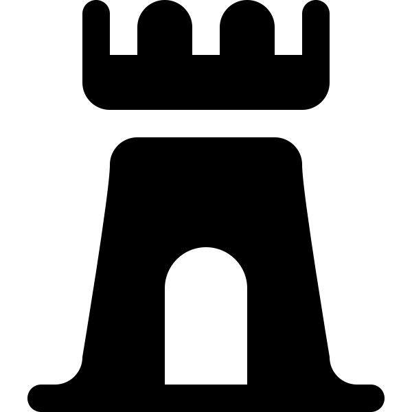 Castle silhouette image