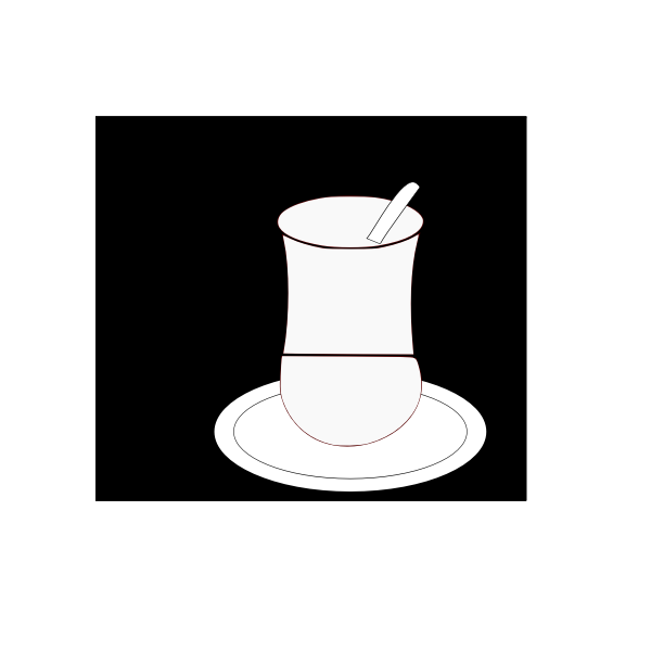 Cup and saucer vector image