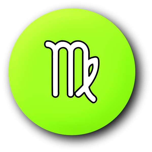 Green Virgo symbol