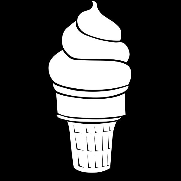 Ice cream silhoette