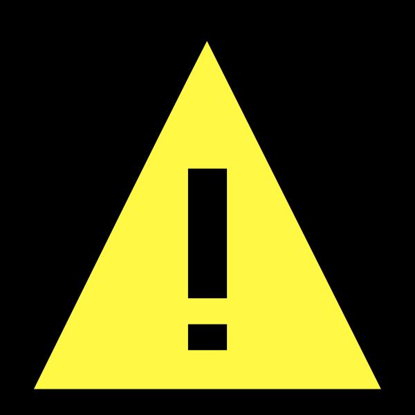 Warning icon image