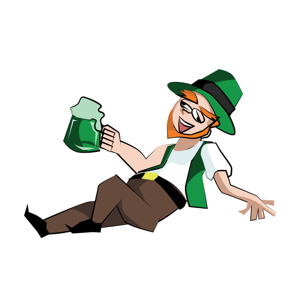 Leprechaun celebrating