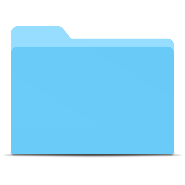 Blank blue folder without solid lines