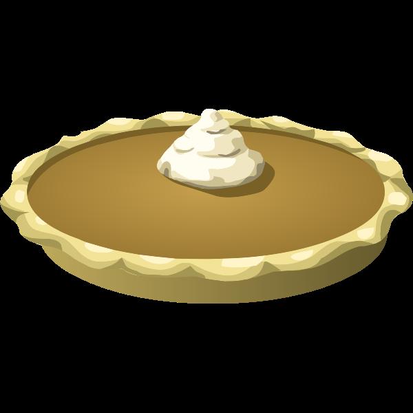 Pie with cream