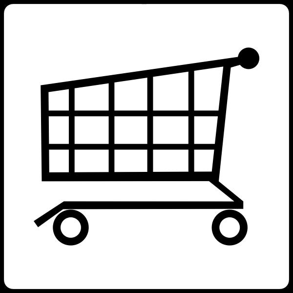Supermarket sign vector image
