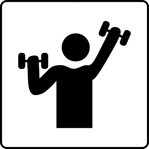 Hotel's gym icon