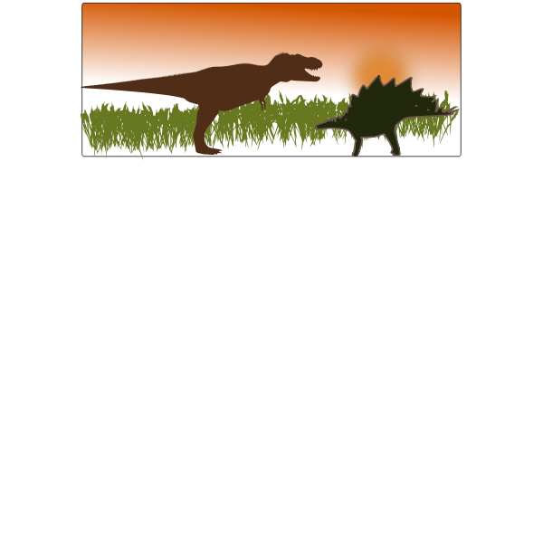 T-Rex vs Stegosaurus