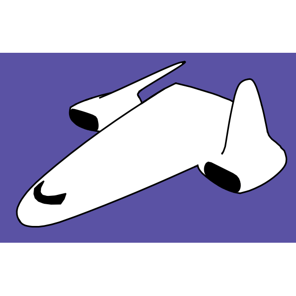 Spacecraft vector image