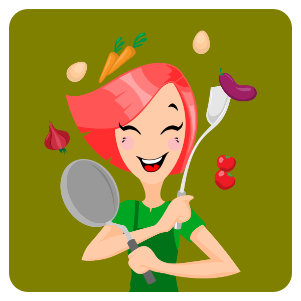 Girl prepares for cooking