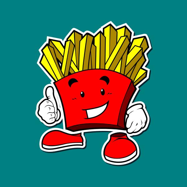 frenc fries maskot