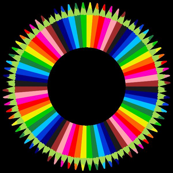 Colorful Pencils Frame 2