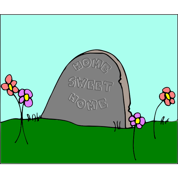 Cartoon tombstone