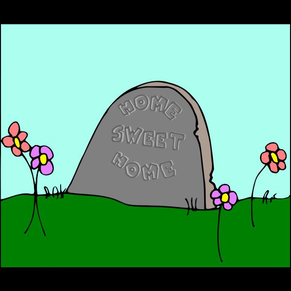 Cartoon tombstone