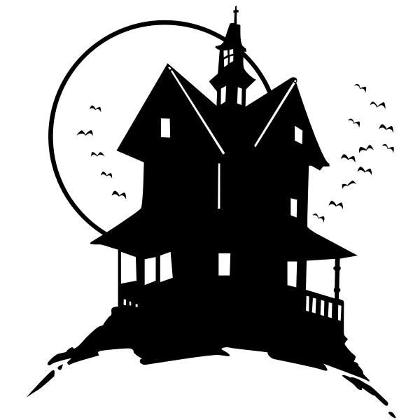 Black scary house