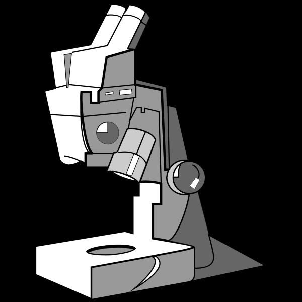 Microscope gray icon
