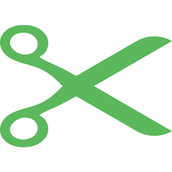 Scissors green color
