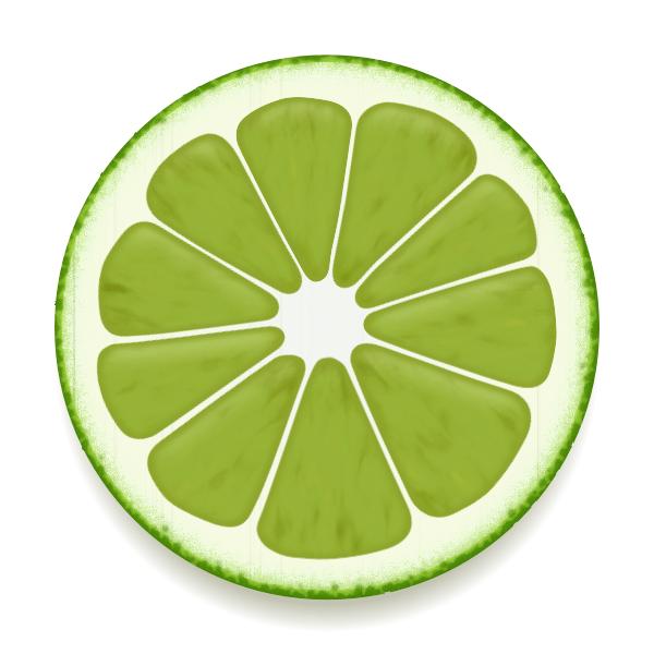 Green fruit slice