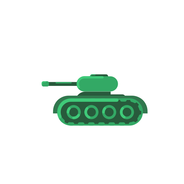 Green tank armored vehicle