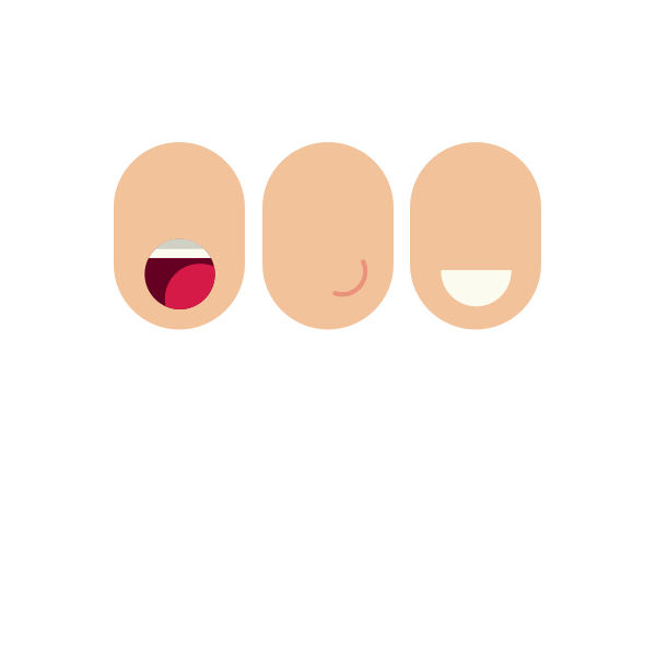 Faces with mouth