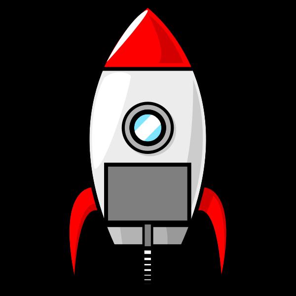 Outlined rocket