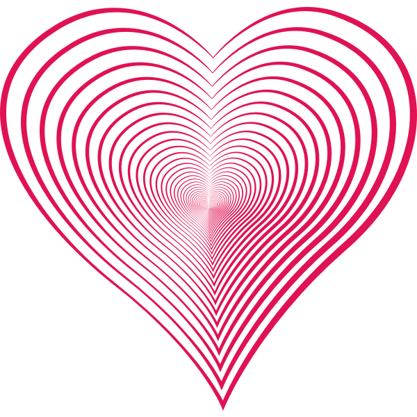 pink heart lines repeating