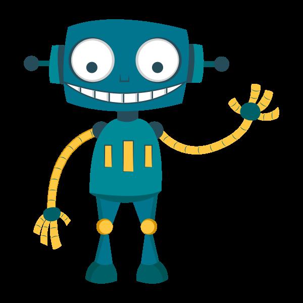 Happy Robot Free Svg