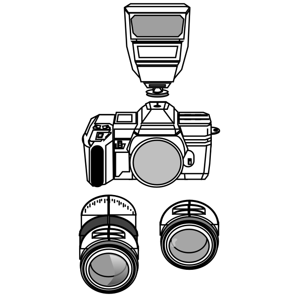 Camera with lenses