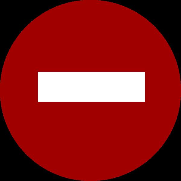 Forbidden street sign