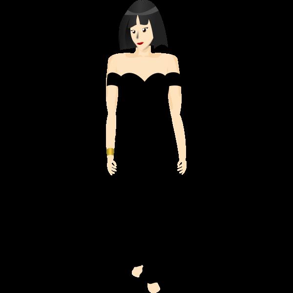 Black dress lady