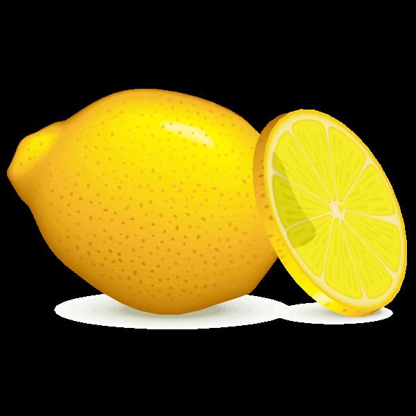 Lemon with slice