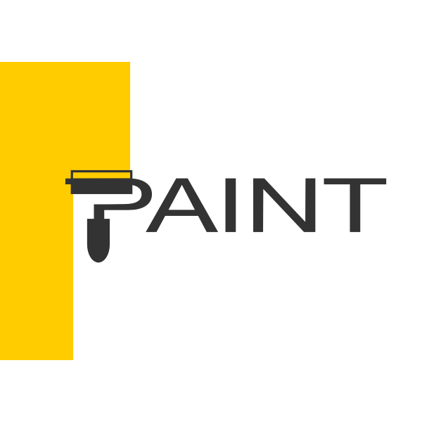 Paint shop logo concept