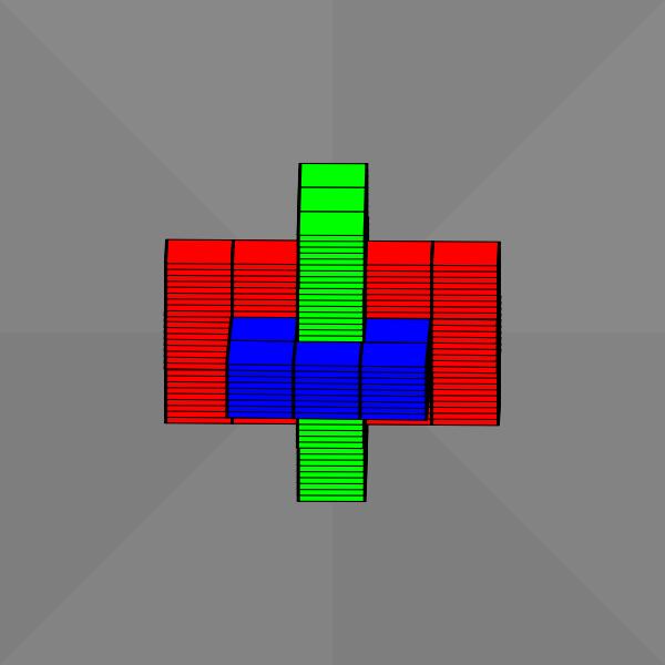 Interlocking cubes animation
