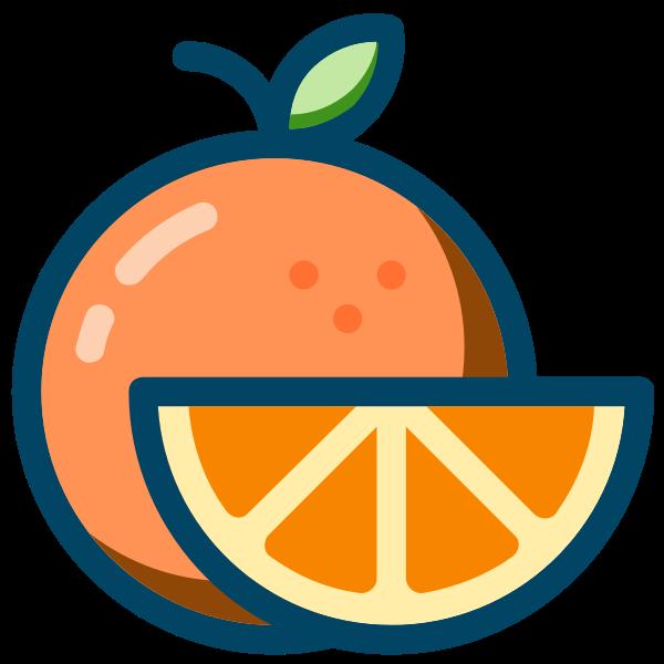 Orange with slice