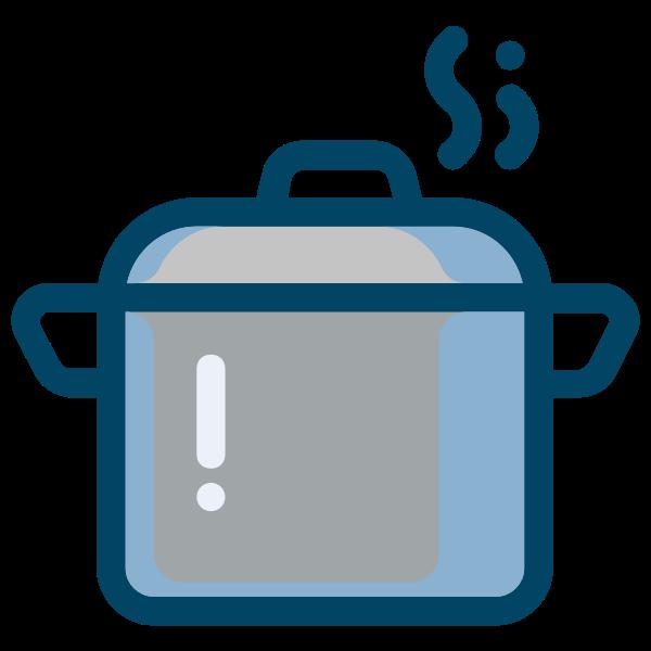 Steaming stew pot