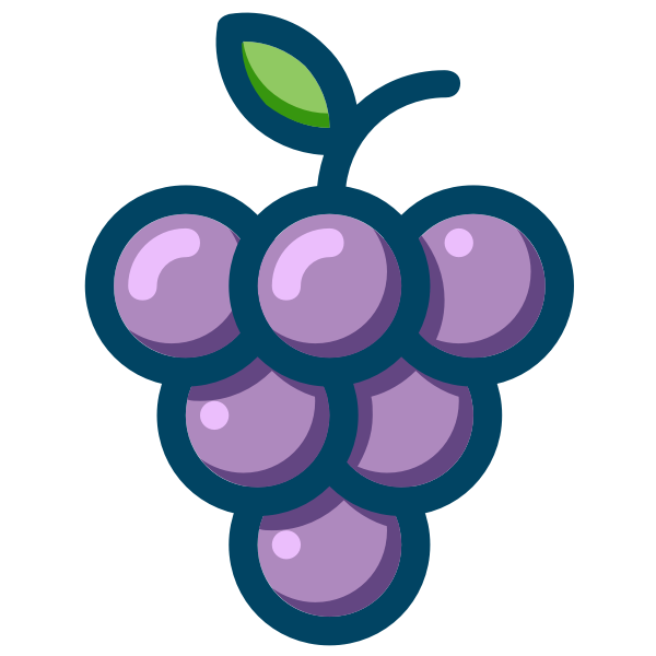 Outlined grapes