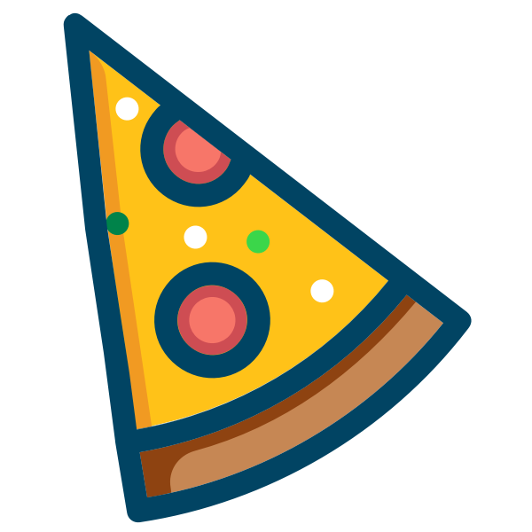 Pepperoni pizza vector image