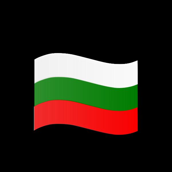 Bulgarian flag wavy