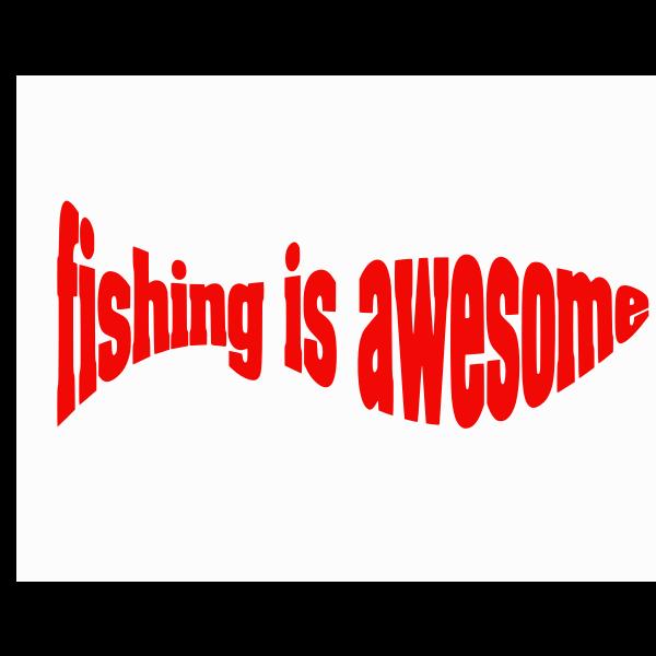 Fishing typography
