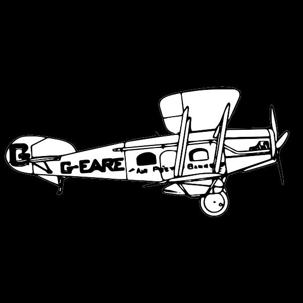 Biplane side view