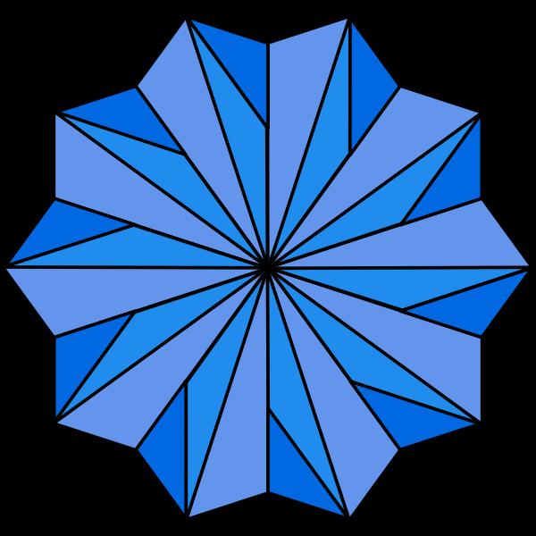 Blue spirograph