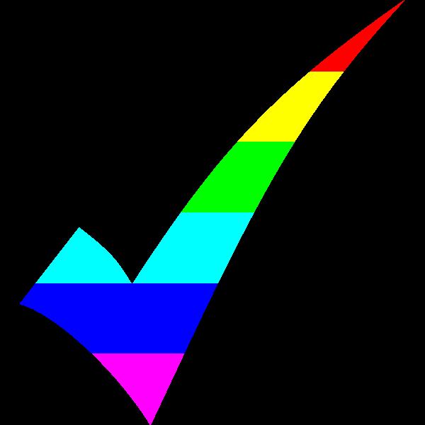 Rainbow Tick Mark