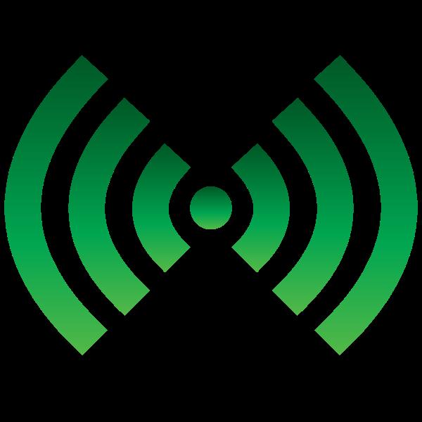 Wi-Fi symbol green color