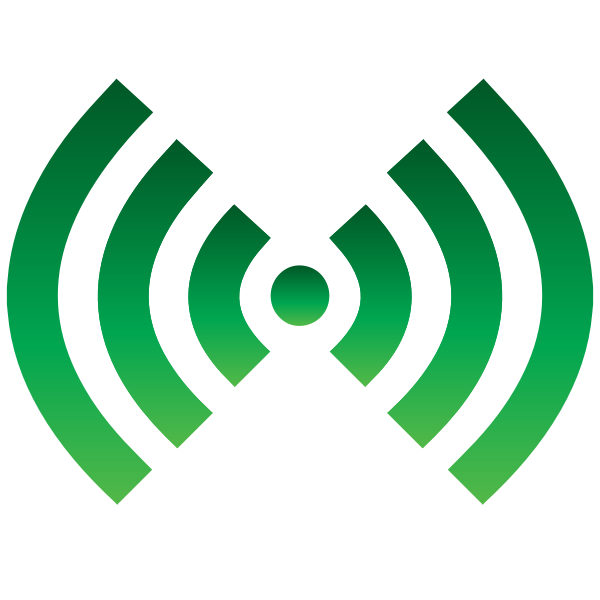 Wi-Fi symbol green color