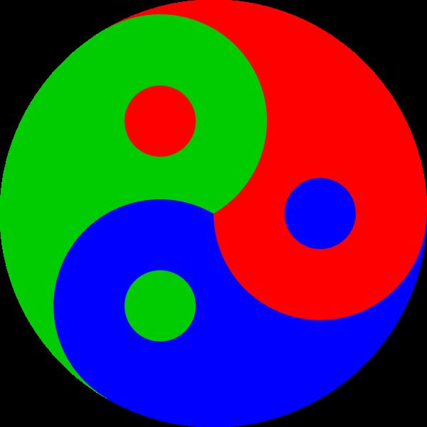 Yin Yang colored symbol
