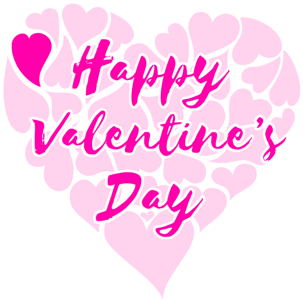 Happy Valentines Day Title with Hearts